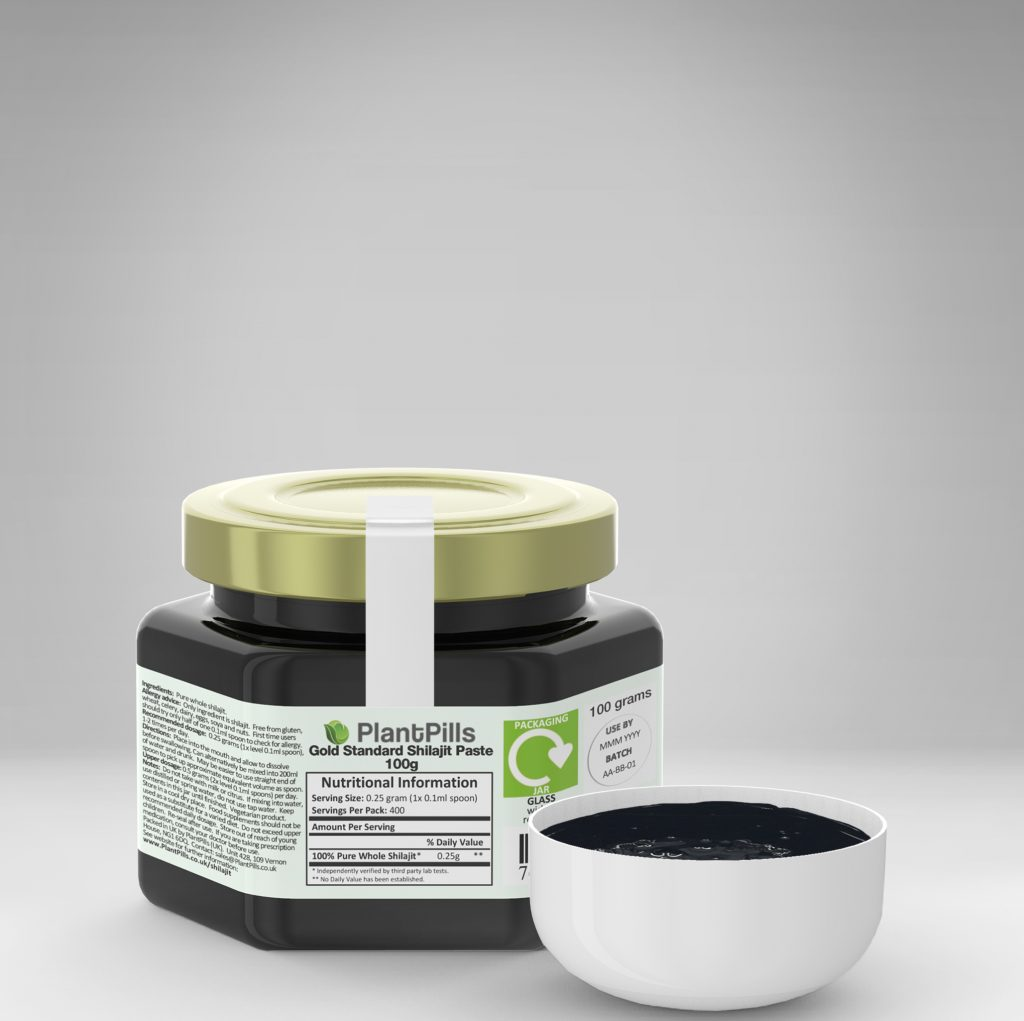 plantpills shilajit paste and jar